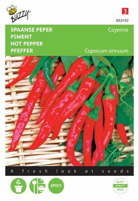 Peper Cayenna (Spaanse Lange Rode)