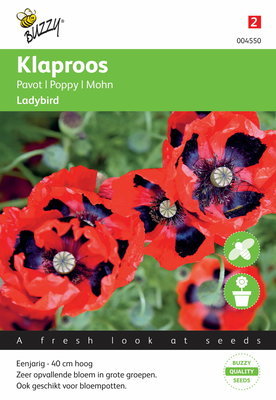 Klaproos Lady Bird papaver zaden