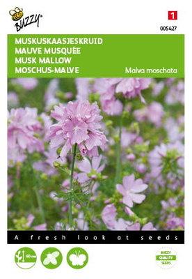 Muskus Kaasjeskruid roze Malva zaden