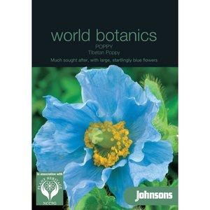 Botanics blauwe Papaver Poppy Tibetan Meconopsis betonicifolia zaden - voorkant