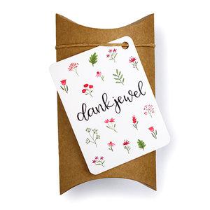 Dankjewel - bedankje zaden in gondeldoosje - een zeer leuk zadenbedankje om te geven