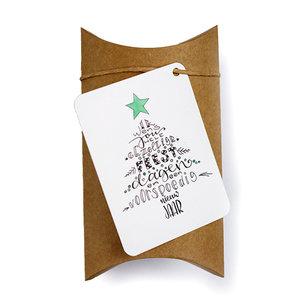 Gezellige feestdagen - bedankje zaden in gondeldoosje