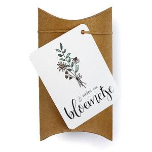 Jij verdient een bloemetje - bedankje zaden in gondeldoosje