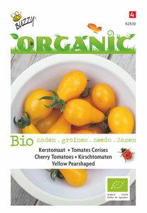 Biologische tomaat yellow pearshaped