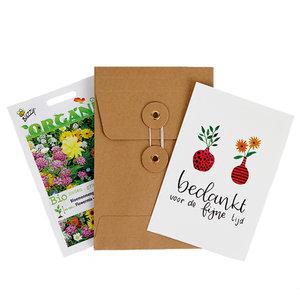 Bedankt voor de fijne tijd - biologisch zadenpakket met ansichtkaart