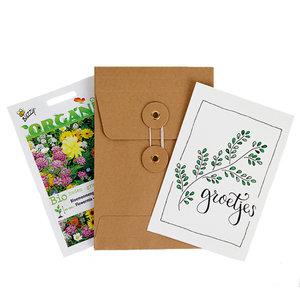 Groetjes - biologisch zadenpakket met ansichtkaart