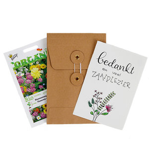 Bedankt en veel zaaiplezier - biologisch zadenpakket met ansichtkaart