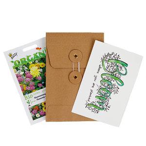 Bloom were you are planted - biologisch zadenpakket met ansichtkaart