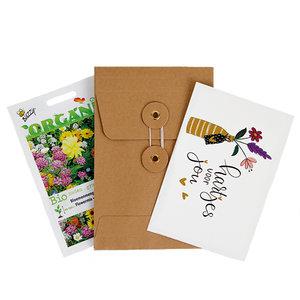 Hartjes voor jou - biologisch zadenpakket met ansichtkaart