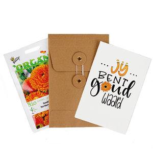 Jij bent goud waard - biologisch zadenpakket met ansichtkaart