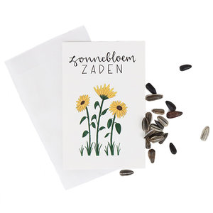 Reuze zonnebloem zaden in pergamijn zakje