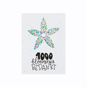 Bloeikaart '1000 bloemetjes bedankt'