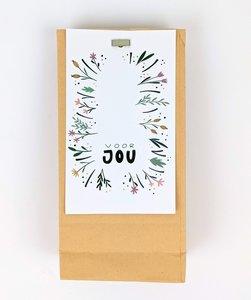 Bedankje bloembollen in kraft cadeauzakje - Voor jou