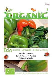 Biologische Paprika California Wonder zaden