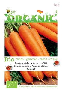 Biologische Zomerwortelen Nantes zaden