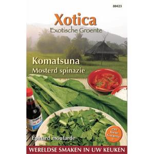Mosterd spinazie Komatsuna zaden - voorkant