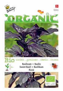 Bio rode Basilicum Rosie zaden - voorkant