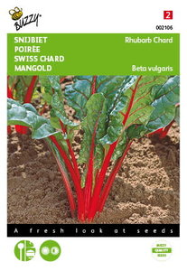Snijbiet Red Chard Micro Leaf zaden - voorkant