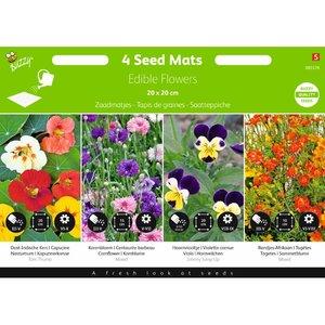Zaadmatjes Eetbare Bloemen zaden - voorkant