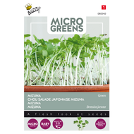 Mizuna Green kiemgroenten zaden - voorkant